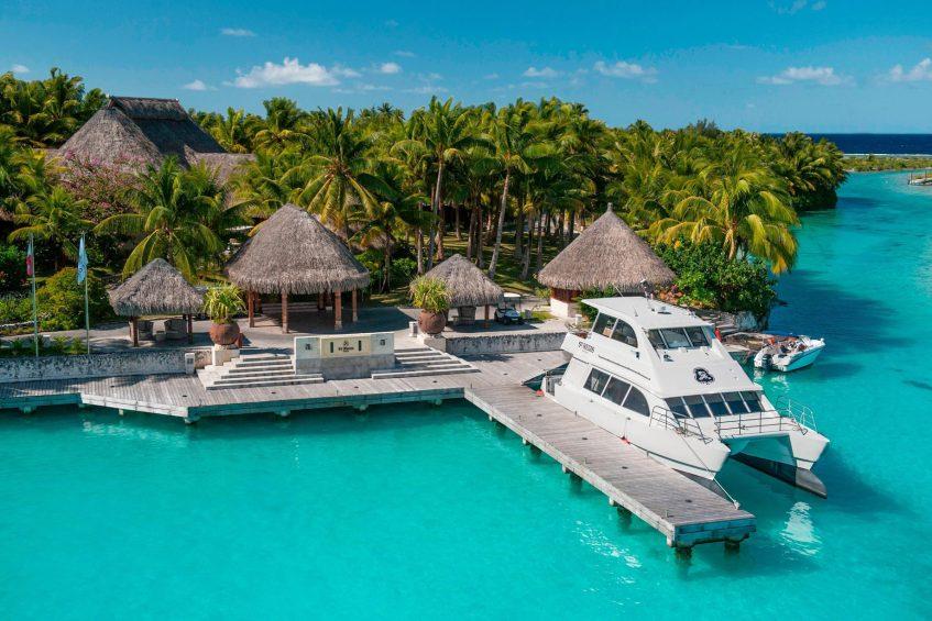 The St. Regis Bora Bora Resort - Bora Bora, French Polynesia - Arrival Dock
