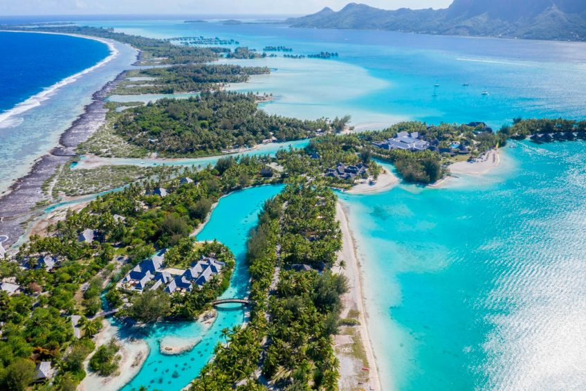 The St. Regis Bora Bora Resort - Bora Bora, French Polynesia - Aerial Resort