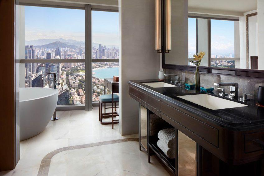 The St. Regis Qingdao Luxury Hotel - Qingdao, Shandong, China - Grand Deluxe Guest Room Vanity