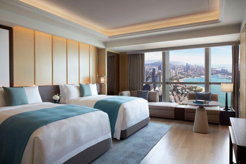 The St. Regis Qingdao Luxury Hotel - Qingdao, Shandong, China - Grand Ocean View Twin Guest Room