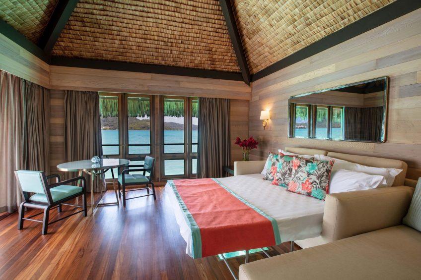 The St. Regis Bora Bora Resort - Bora Bora, French Polynesia - Overwater Deluxe Otemanu Villa Sofa Bed