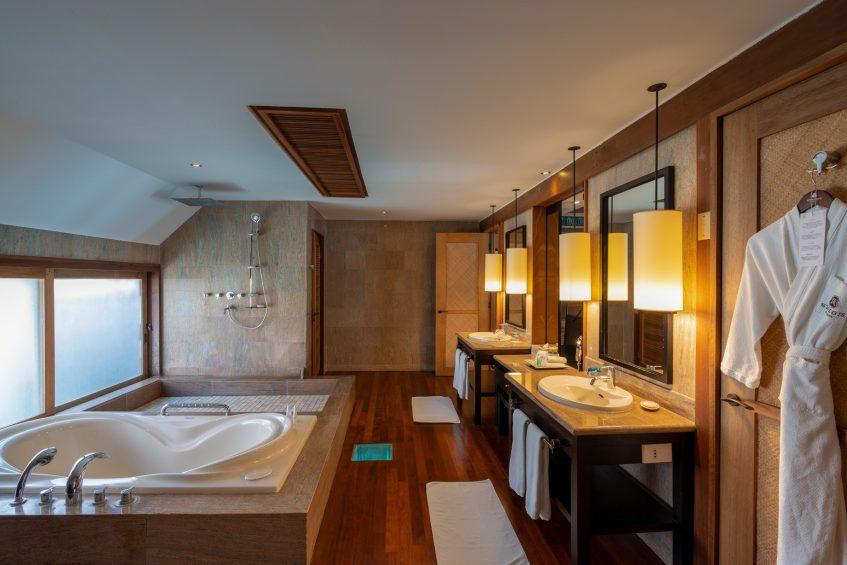 The St. Regis Bora Bora Resort - Bora Bora, French Polynesia - Overwater Deluxe Villa Lagoon View Bathroom