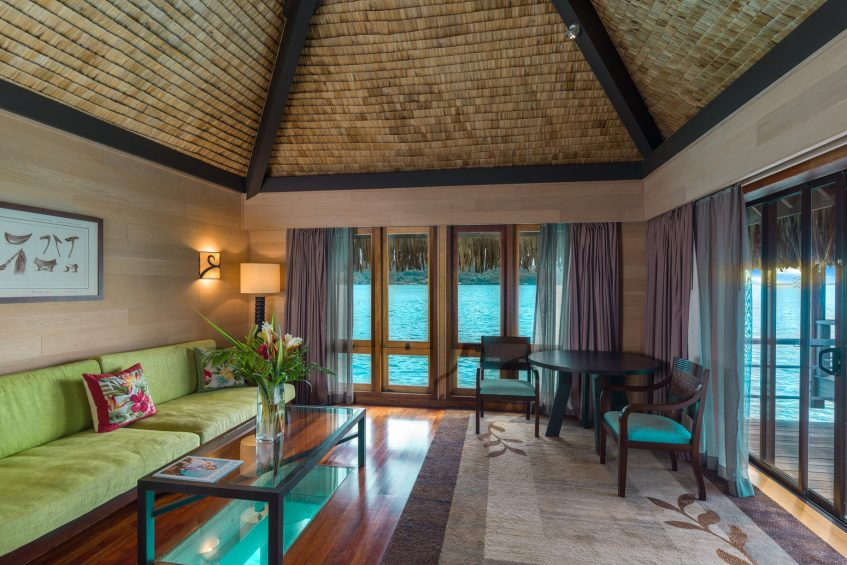 The St. Regis Bora Bora Resort - Bora Bora, French Polynesia - Overwater Deluxe Suite Villa Lounge