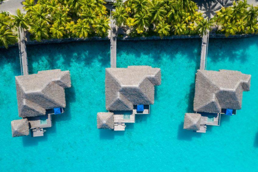 The St. Regis Bora Bora Resort - Bora Bora, French Polynesia - Overwater Premier Suite Villa Exterior Aerial View