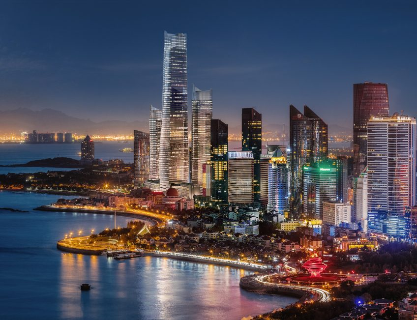 The St. Regis Qingdao Luxury Hotel - Qingdao, Shandong, China - Hotel Night View