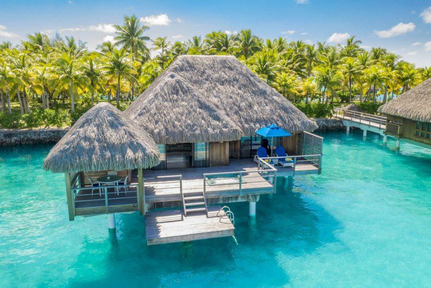 The St. Regis Bora Bora Resort - Bora Bora, French Polynesia - Overwater Premier Suite Villa Aerial