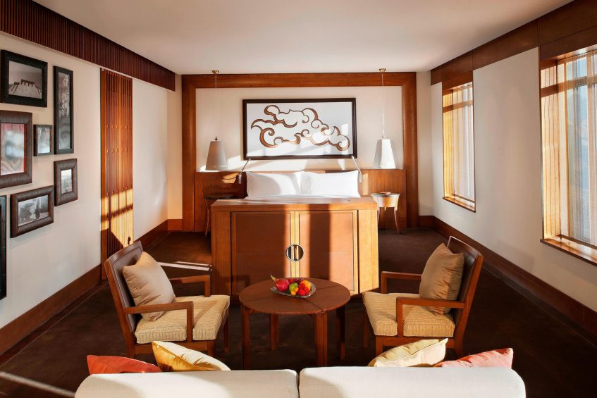 The St. Regis Lhasa Luxury Resort - Lhasa, Xizang, China - Grand Deluxe Room Bed