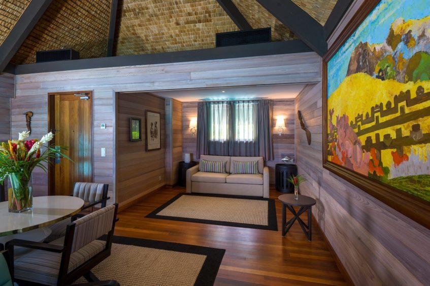 The St. Regis Bora Bora Resort - Bora Bora, French Polynesia - Overwater Premier Suite Villa Lounge Interior