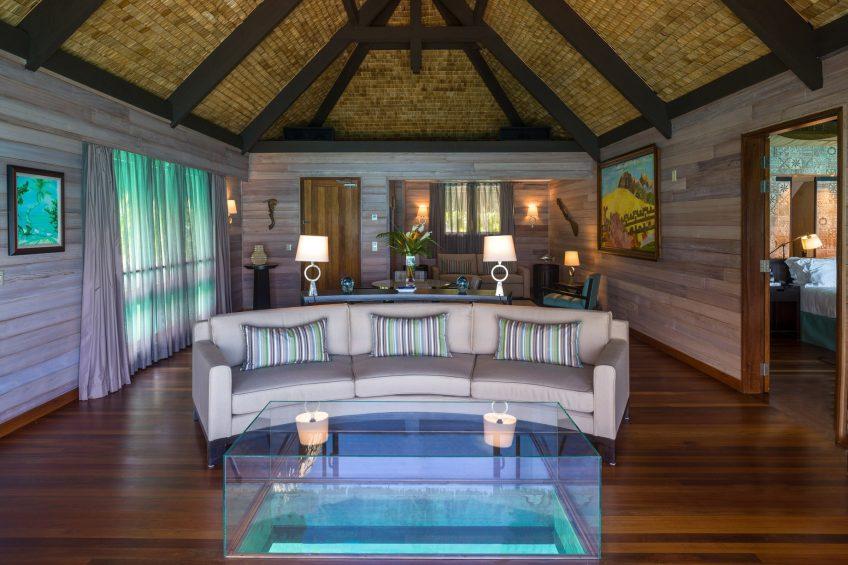 The St. Regis Bora Bora Resort - Bora Bora, French Polynesia - Overwater Premier Suite Villa Lounge Seating