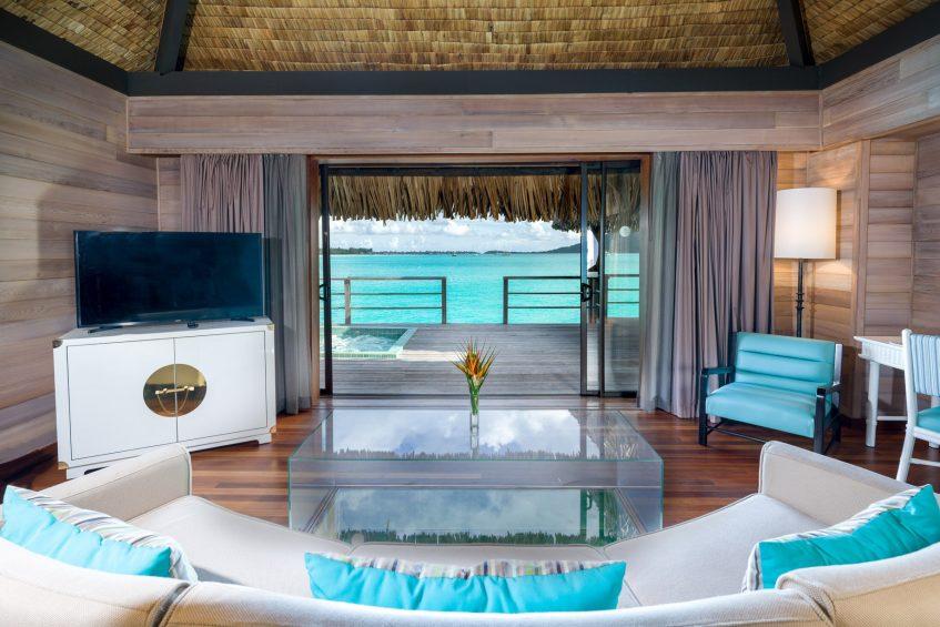 The St. Regis Bora Bora Resort - Bora Bora, French Polynesia - Overwater Premier Suite Villa Lounge