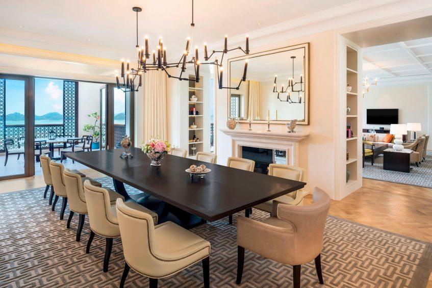 The St. Regis Langkawi Luxury Resort - Langkawi, Malaysia - Astor Suite Dining Area