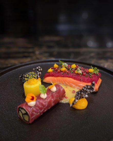 The St. Regis Kuala Lumpur Luxury Hotel - Kuala Lumpur, Malaysia - Superb Gourmet Cuisine Salmon Plate