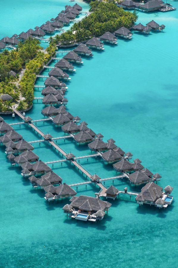 The St. Regis Bora Bora Resort - Bora Bora, French Polynesia - Resort Aerial View Villas