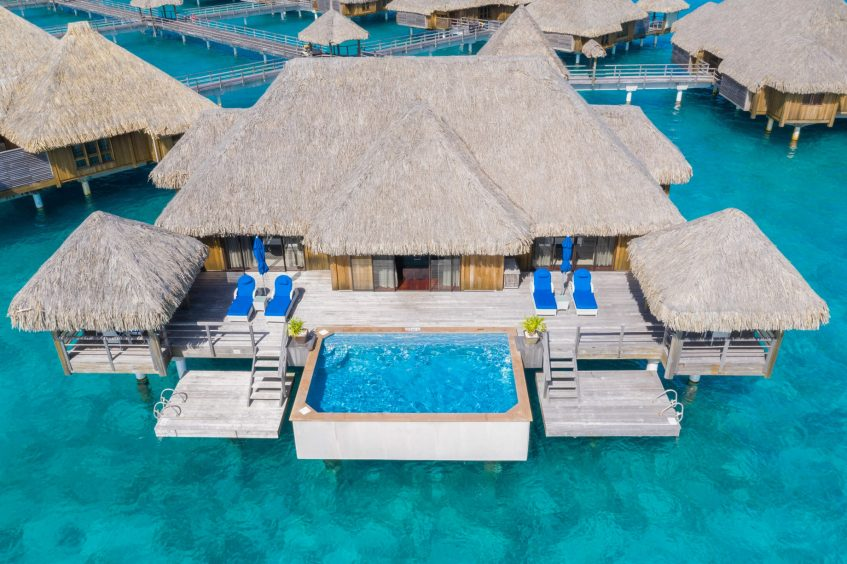 The St. Regis Bora Bora Resort - Bora Bora, French Polynesia - Two Bedrooms Overwater Royal Suite Villa Mt Otemanu View