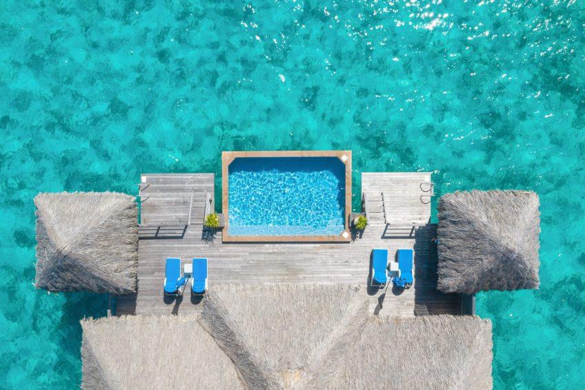 The St. Regis Bora Bora Resort - Bora Bora, French Polynesia - Two Bedrooms Overwater Royal Suite Villa Overhead Aerial