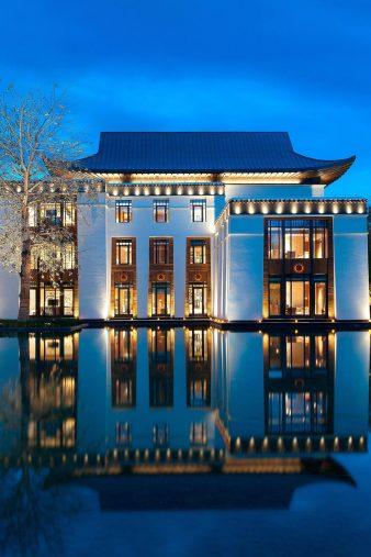 The St. Regis Lhasa Luxury Resort - Lhasa, Xizang, China - Exterior Villa The Resa Mansion Night