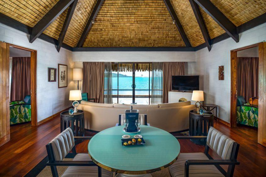 The St. Regis Bora Bora Resort - Bora Bora, French Polynesia - Two Bedrooms Overwater Royal Suite Villa Lounge
