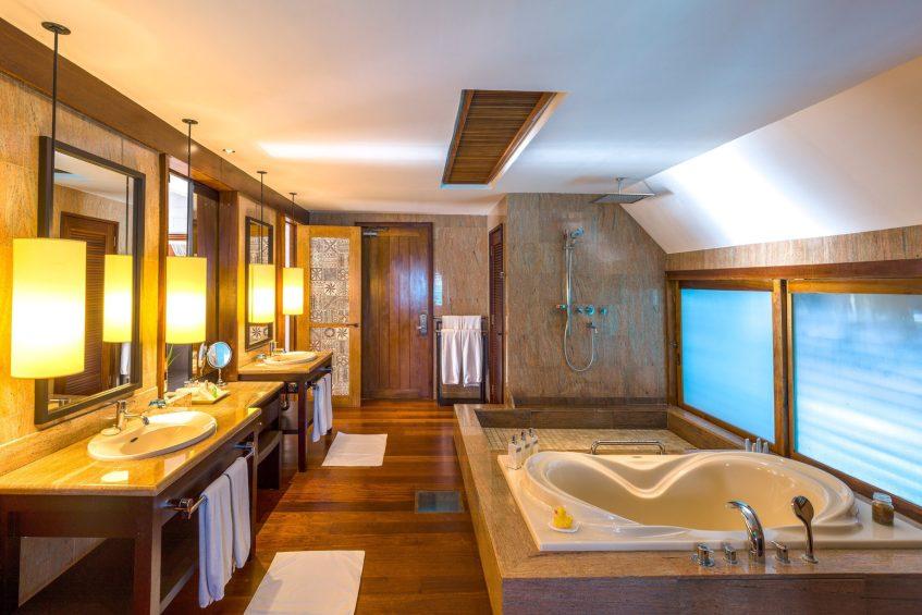 The St. Regis Bora Bora Resort - Bora Bora, French Polynesia - Two Bedrooms Overwater Royal Suite Villa Mt Otemanu View Bathroom Interior