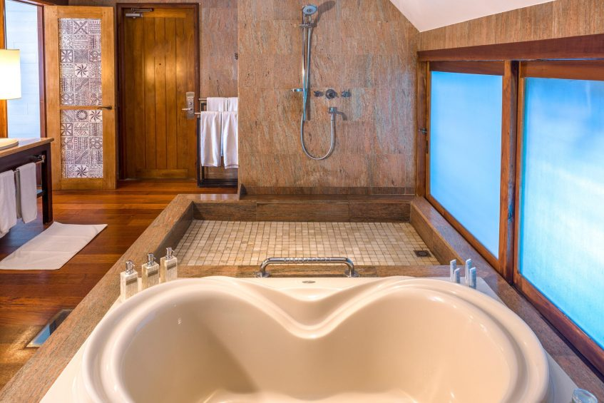 The St. Regis Bora Bora Resort - Bora Bora, French Polynesia - Two Bedrooms Overwater Royal Suite Villa Mt Otemanu View Bathroom Tub