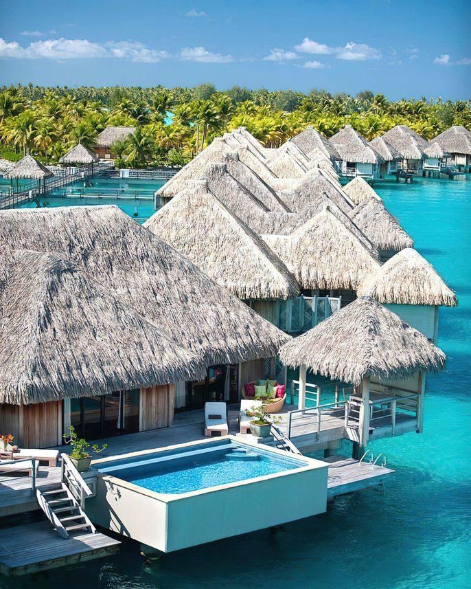 The St. Regis Bora Bora Resort - Bora Bora, French Polynesia - Overwater Villas View