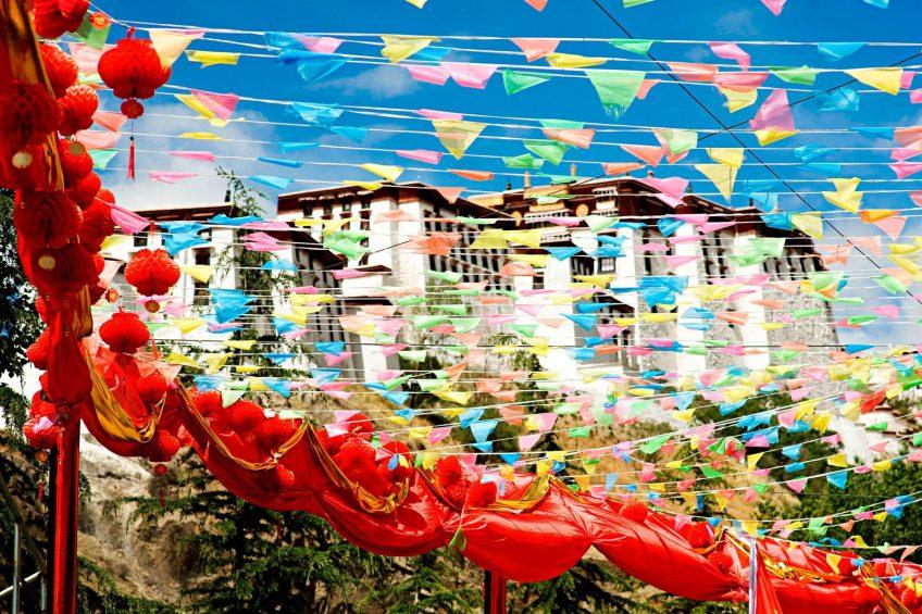 The St. Regis Lhasa Luxury Resort - Lhasa, Xizang, China - Potala Palace Garden