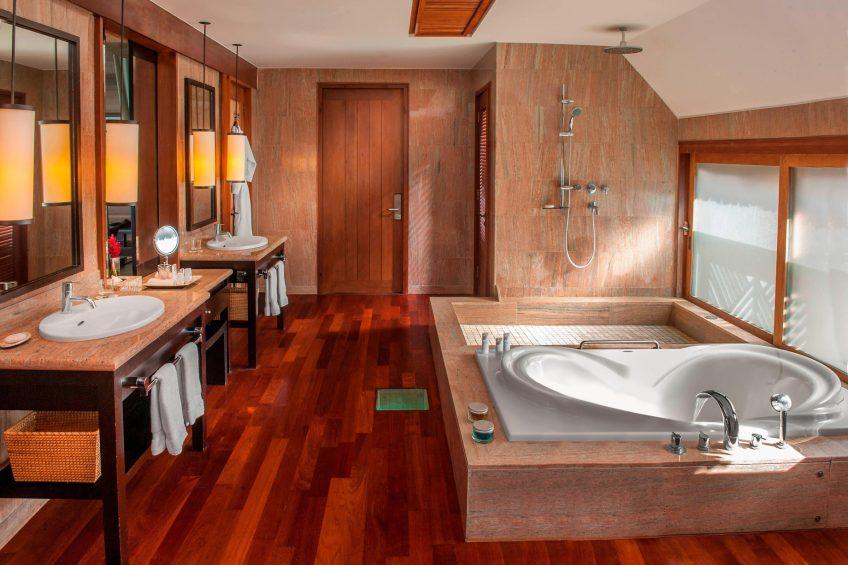 The St. Regis Bora Bora Resort - Bora Bora, French Polynesia - Guest Bathroom Tub