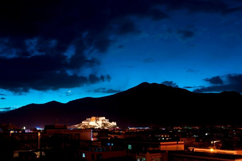 The St. Regis Lhasa Luxury Resort - Lhasa, Xizang, China - Lhasa City Night View