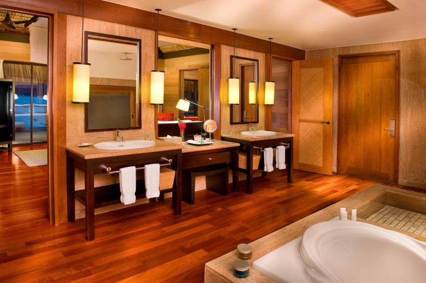 The St. Regis Bora Bora Resort - Bora Bora, French Polynesia - Guest Bathroom