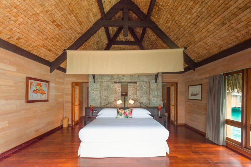 The St. Regis Bora Bora Resort - Bora Bora, French Polynesia - Premier Otemanu King Overwater Villa With Whirlpool Bedroom