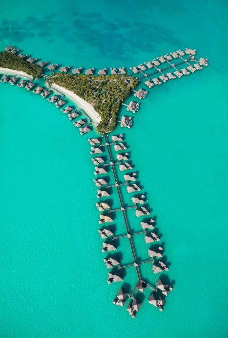 The St. Regis Bora Bora Resort - Bora Bora, French Polynesia - St Regis Bora Bora Aerial Villa View