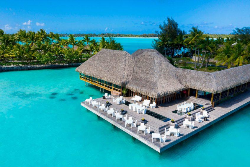 The St. Regis Bora Bora Resort - Bora Bora, French Polynesia - Lagoon Restaurant by Jean Georges Exterior Aerial View