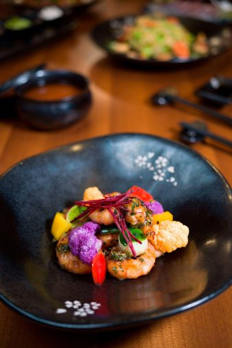 The St. Regis Bora Bora Resort - Bora Bora, French Polynesia - Bam Boo Restaurant Sichuan Style Prawns Wok