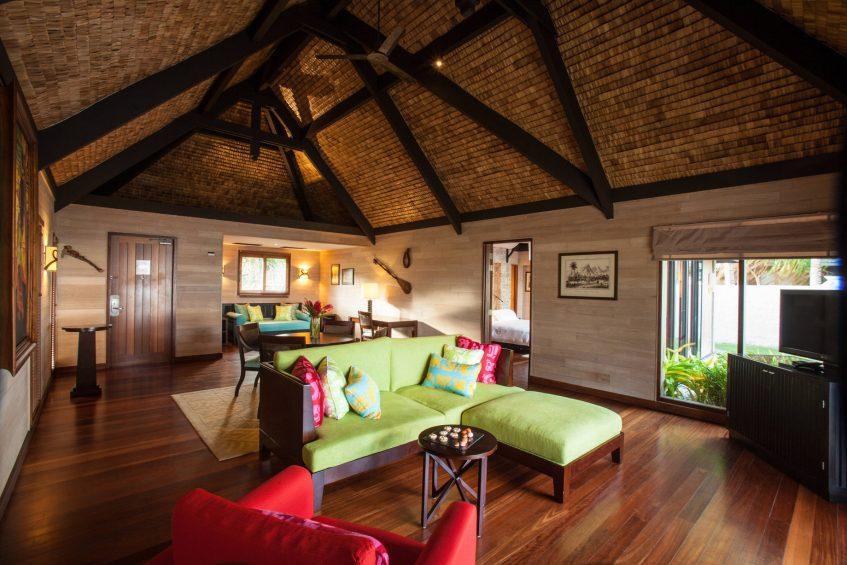 The St. Regis Bora Bora Resort - Bora Bora, French Polynesia - Reefside Garden Villa with Pool Living Room