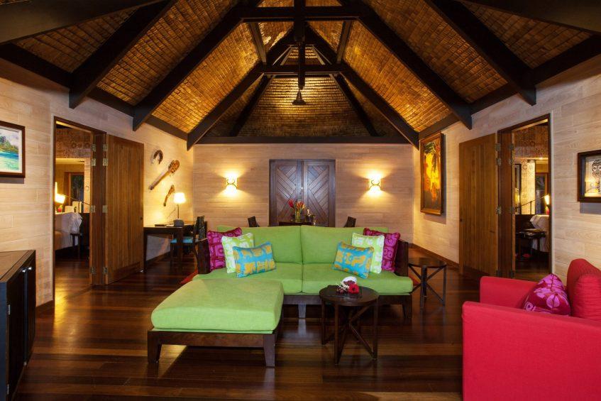 The St. Regis Bora Bora Resort - Bora Bora, French Polynesia - Royal Beach Villa Living Room Area