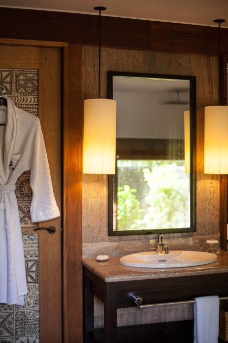 The St. Regis Bora Bora Resort - Bora Bora, French Polynesia - Reefside Royal Garden Two Bedroom Villa with Pool Bathroom Mirror