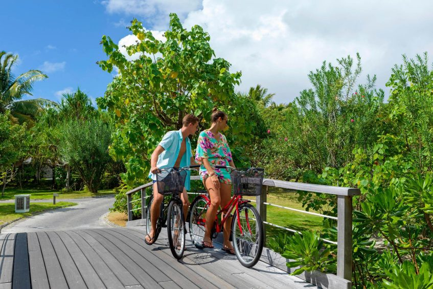 The St. Regis Bora Bora Resort - Bora Bora, French Polynesia - Resort Bicycles