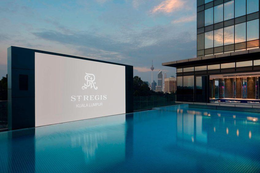 The St. Regis Kuala Lumpur Luxury Hotel - Kuala Lumpur, Malaysia - Outdoor Pool with LED Screen