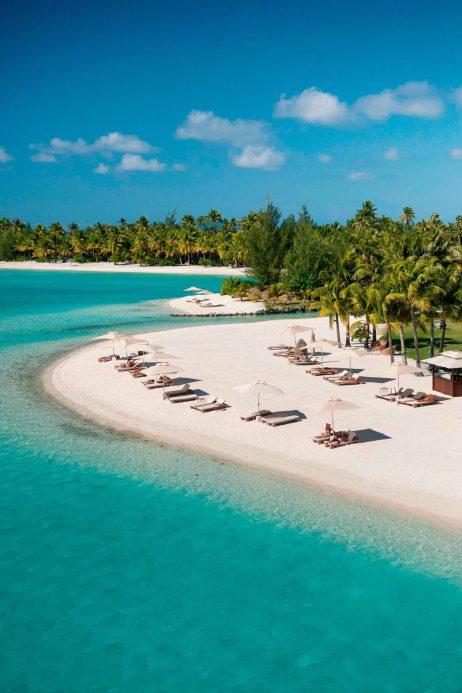 The St. Regis Bora Bora Resort - Bora Bora, French Polynesia - Beach Aerial