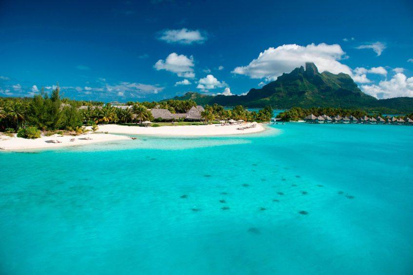 The St. Regis Bora Bora Resort - Bora Bora, French Polynesia - Private Beach Aerial