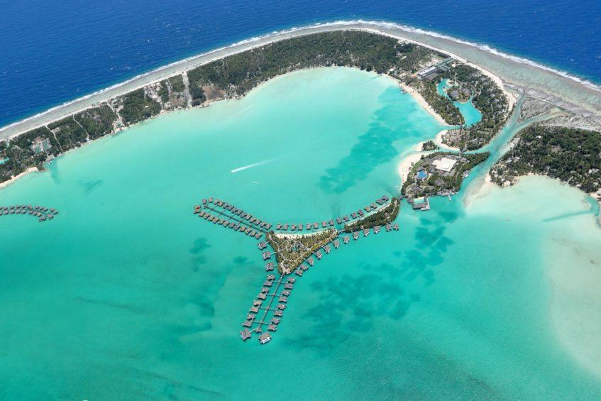 The St. Regis Bora Bora Resort - Bora Bora, French Polynesia - The St Regis Bora Bora Resort Aerial View