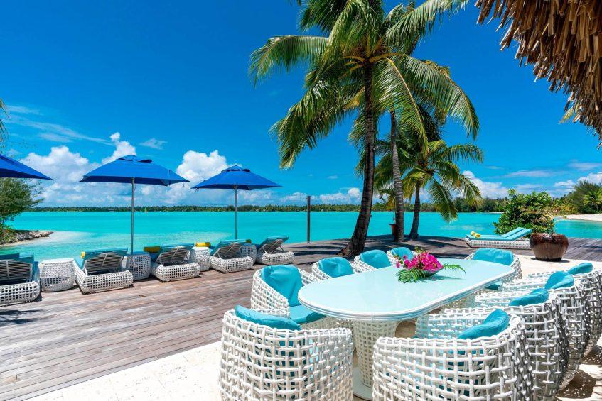 The St. Regis Bora Bora Resort - Bora Bora, French Polynesia - Royal Estate Exterior Lounge Deck