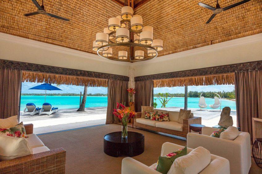 The St. Regis Bora Bora Resort - Bora Bora, French Polynesia - The Royal Estate Villa View