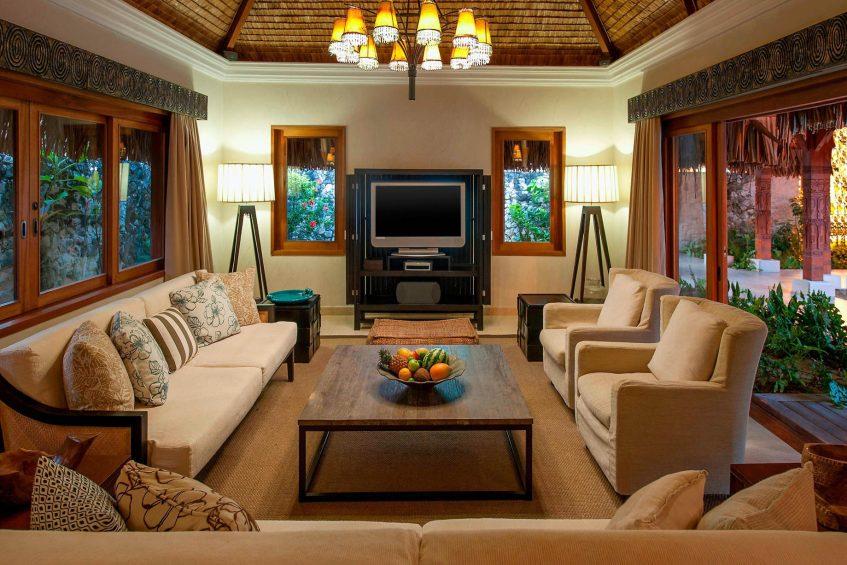 The St. Regis Bora Bora Resort - Bora Bora, French Polynesia - Royal Estate Living Room