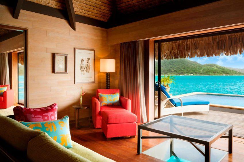 The St. Regis Bora Bora Resort - Bora Bora, French Polynesia - Royal Overwater Otemanu Villa with Pool Living Area