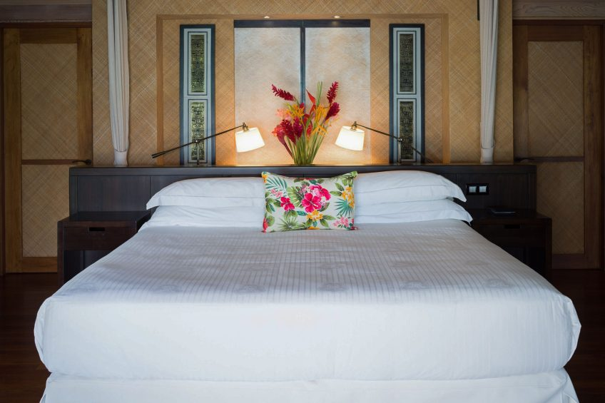 The St. Regis Bora Bora Resort - Bora Bora, French Polynesia - Superior King Overwater Villa Bedroom