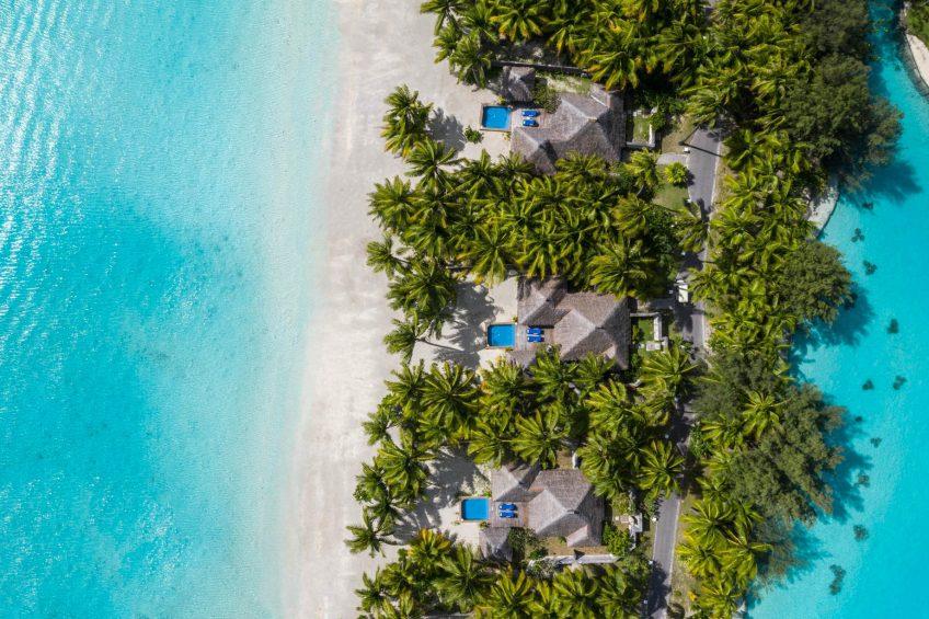 The St. Regis Bora Bora Resort - Bora Bora, French Polynesia - Beach Front Suite Villa With Pool Aerial View