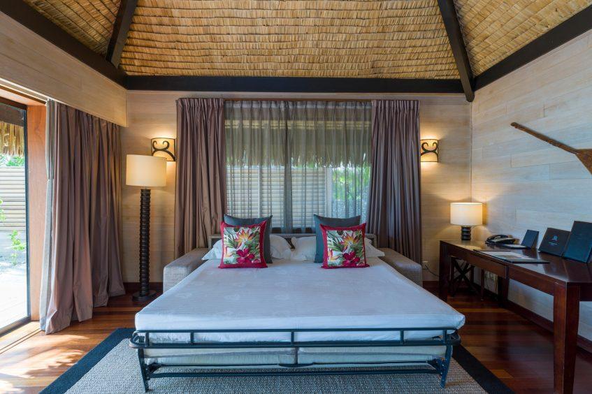 The St. Regis Bora Bora Resort - Bora Bora, French Polynesia - Beach Front Suite Villa Sofa Bed