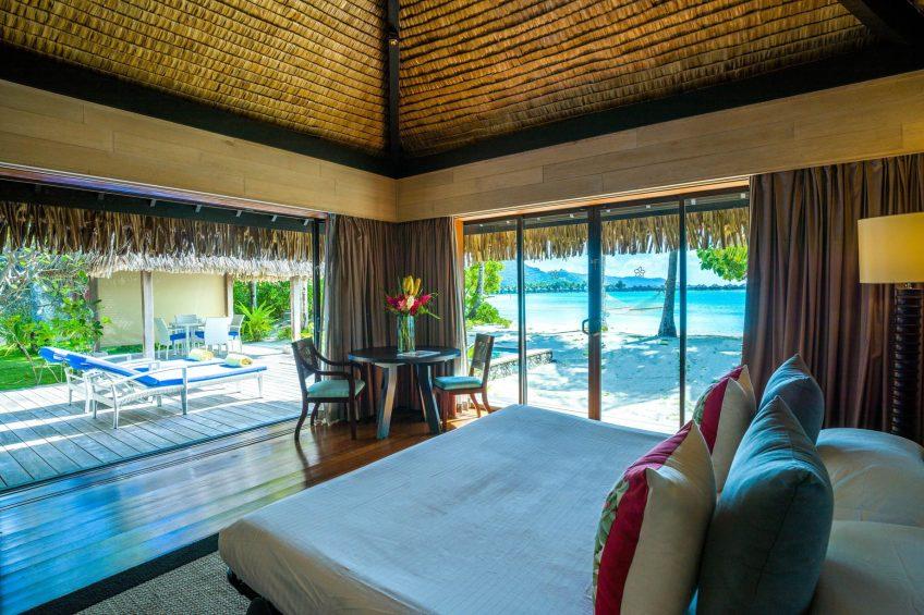 The St. Regis Bora Bora Resort - Bora Bora, French Polynesia - Beach Front Suite Villa With Pool Sofa Bed