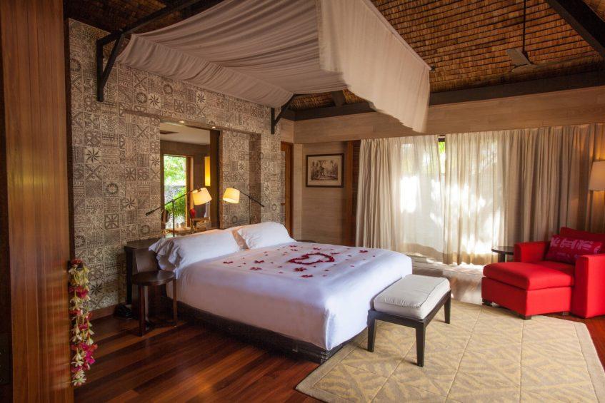 The St. Regis Bora Bora Resort - Bora Bora, French Polynesia - Beachside Villa with Pool Bedroom