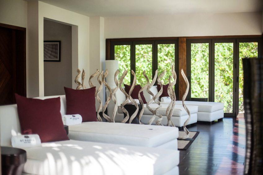 The St. Regis Bora Bora Resort - Bora Bora, French Polynesia - Iridium Spa Lounge Area Chairs